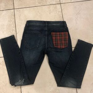 Current Elliot plaid pocket ankle jeans 24